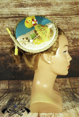 "Fascinator ""Ein Tag am Strand"""