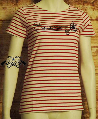 "T-Shirt ""Rockabella Stripes rot"""