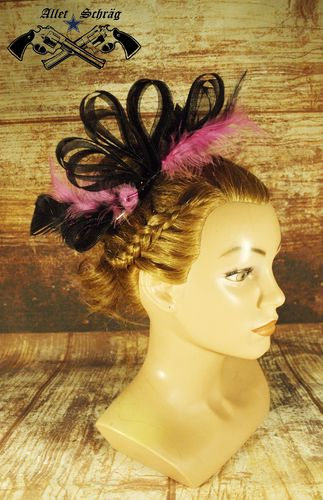 "Fascinator ""Pinke Feder"""