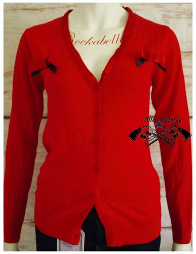 "Strickjacke ""Red Swallow"" (Rote Schwalben)"